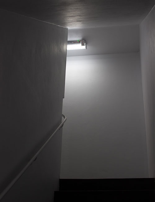 Energy Saving Fire Stairs Lighting Solution with Networked Lighting Sensors