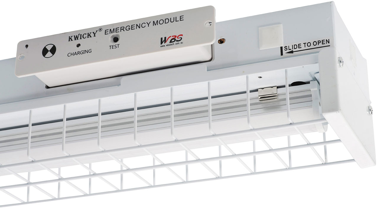 WBS kwicky emergency module with LED batten