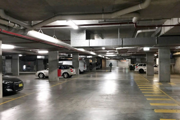 WBS Lighting in a car park